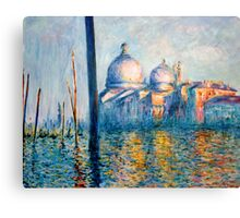 "After Monet - ""The Grand Canal"" Canvas Print"