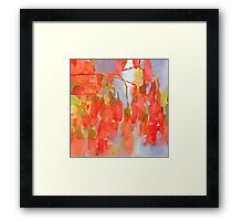 Epoque - Abstract Floral Watercolor Framed Print