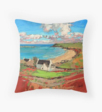 Bay At Trotternish Throw Pillow