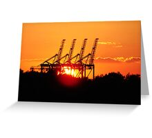 Industrial Sunset Greeting Card