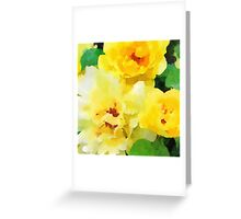 Renew - Yellow Flowers in Watercolor Greeting Card
