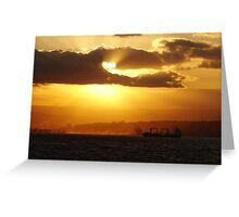 Sunset in Durban Greeting Card