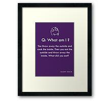 Riddle #8 Framed Print