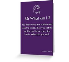 Riddle #8 Greeting Card