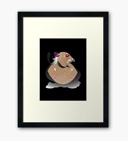 Superhero Hamster Framed Print