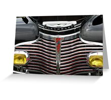 1941 CHEVROLET GRILL Greeting Card