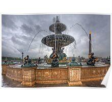 Fountain at Place de la Concorde Poster