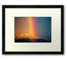 Rainbow over Mount Dandenong, Victoria, Australia. Framed Print