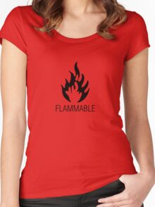 Flammable Women's Fitted Scoop T-Shirt