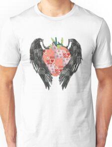Patchwork Strawberry Unisex T-Shirt