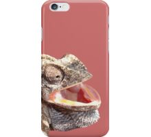 Chameleon with Happy Smiling Expression Vector iPhone Case/Skin
