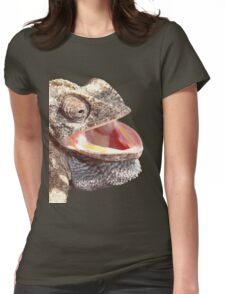Chameleon with Happy Smiling Expression Vector Womens Fitted T-Shirt