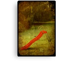 lonely slide Canvas Print