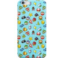 Mario Kart 8 Items Pattern iPhone Case/Skin