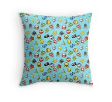 Mario Kart 8 Items Pattern Throw Pillow