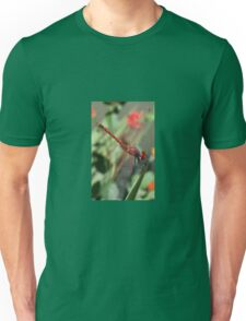 Red Skimmer or Firecracker Dragonfly Closeup Unisex T-Shirt