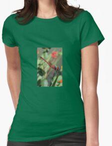 Red Skimmer or Firecracker Dragonfly Closeup T-Shirt