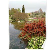 flower garden of Tête d'Or,Lyon,France Poster