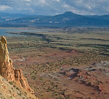 Chimney Rock and the Pedernal at Georgia O'Keefe's Ghost Ranch by TheBlindHog