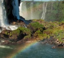 Iguazu Falls Rainbow Sticker