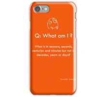 Riddle #3 iPhone Case/Skin