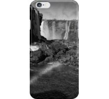 Iguazu Falls Rainbow - In Monochrome iPhone Case/Skin