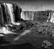 Iguazu Falls Rainbow - In Monochrome by photograham