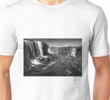 Iguazu Falls Rainbow - In Monochrome Unisex T-Shirt