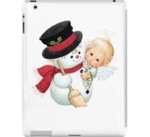ANGEL AND SNOW MAN iPad Case/Skin