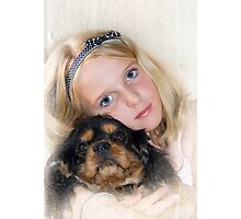 Me and my dog Boots Photographic Print