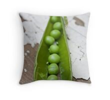 Peas and pod Throw Pillow