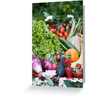 Fruit and vegetable basket Greeting Card