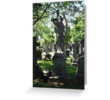 Church Yard Gravestones Greeting Card