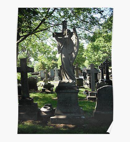 Church Yard Gravestones Poster