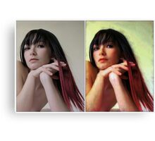 Before n after Canvas Print
