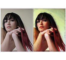 Before n after Photographic Print