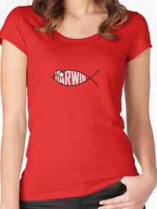 Darwin Fish Women's Fitted Scoop T-Shirt