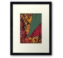 Corner Splatter # 14 Framed Print