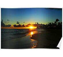 Carribean Sunrise Poster