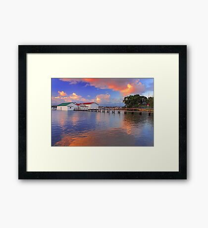 Mosman Bay Boatsheds  Framed Print