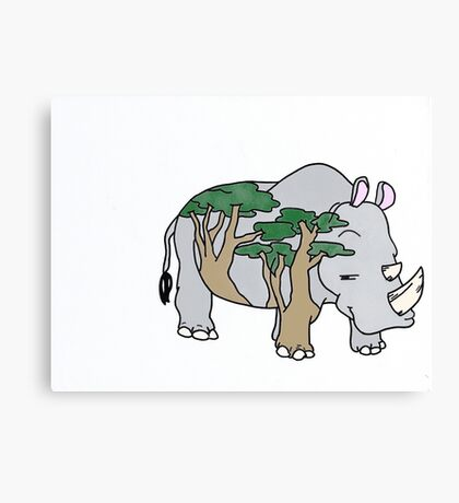 Sly Rhino Canvas Print