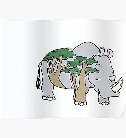 Sly Rhino Poster