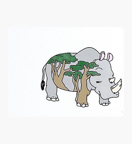 Sly Rhino Photographic Print