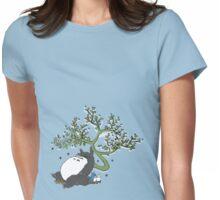 Sleeping Totoro Womens Fitted T-Shirt
