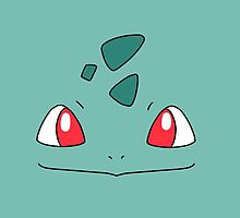 Bulbasaur Face by alienaviary