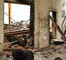 fire damage by Barry W  King