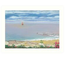 Calm Beach Art Print