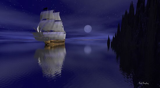 Sailing By Moonlight by David  Humphrey