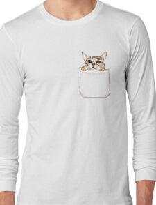 Pocket cat Long Sleeve T-Shirt