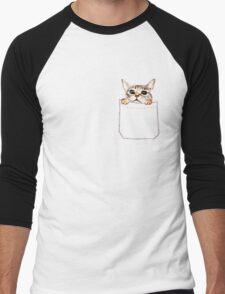 Pocket cat Men's Baseball ¾ T-Shirt